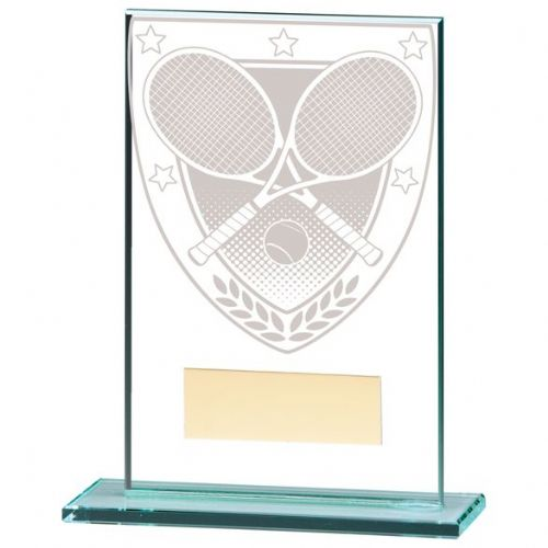 Millennium Tennis Jade Glass Award 125mm
